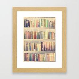 Dream with Books - Love of Reading Bookshelf Collage Framed Art Print