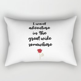 Beauty And The Beast Quote Rectangular Pillow
