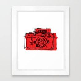 Click Click Red Framed Art Print