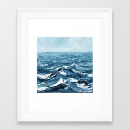 Deep Dark Seas Framed Art Print