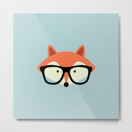 Hipster Red Fox Metal Print