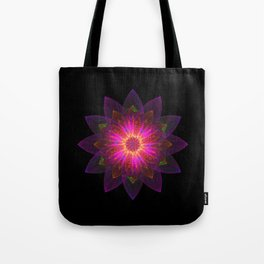 Abstract purple flower 01 Tote Bag