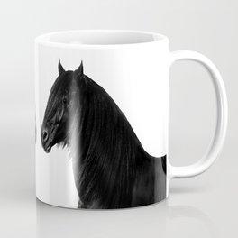 Black beauty Friesian stallion Coffee Mug