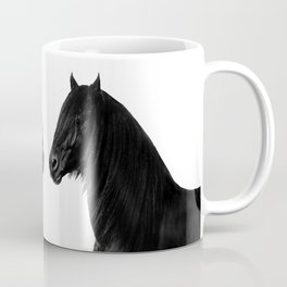 Black beauty Friesian stallion Coffee Mug