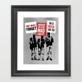 Semi-Protesting Framed Art Print
