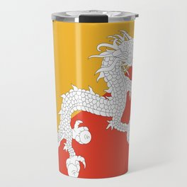 Flag of bhutan-,Bhutan, Himalaya, South Asia,Bhutanese, bhoutan, bhoutanais, dragon Travel Mug