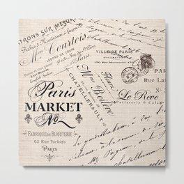 Paris Market 2 Metal Print