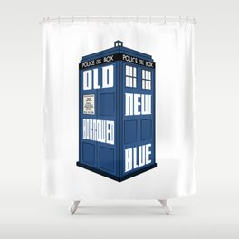 Something Old, New, Borrowed, Blue Shower Curtain