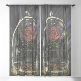 Enchanted Rose Sheer Curtain