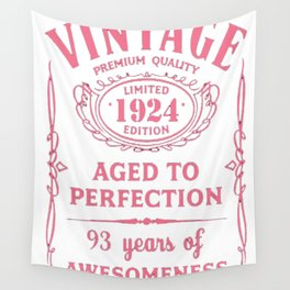 Pink-Vintage-Limited-1924-Edition---93rd-Birthday-Gift Wall Tapestry