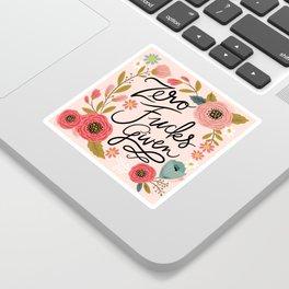 Pretty Swe*ry: Zero Fucks Given, in Pink Sticker