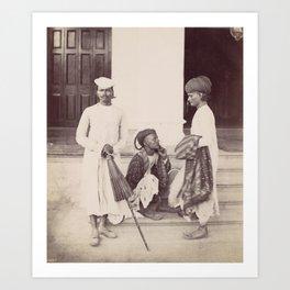 Marwaree Brokers - Vintage Indian Photography Art Print