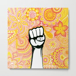 Let's fight ! Metal Print