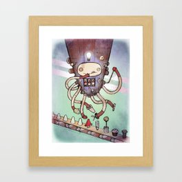 Self Made Robot Framed Art Print