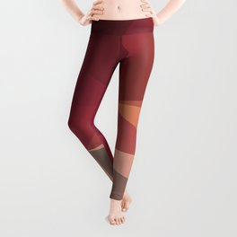 Cos 1 — art red orange, valentine, motherday, deco scandinavian, low pol, geometric art, summer Leggings