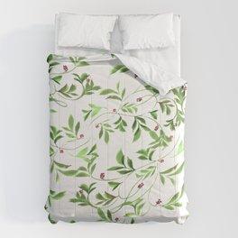 lush green leaves Comforters