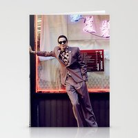 snl Stationery Cards featuring Neon by F*** Me Pete Davidson