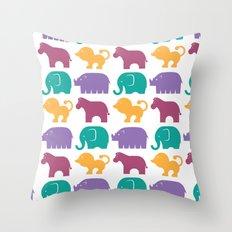 Fun at the Zoo: Pattern Throw Pillow
