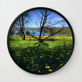 Springtime Comes to Lake Murray, La Mesa, CA Wall Clock