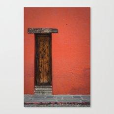 La Puerta Roja Canvas Print