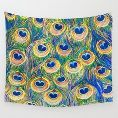 Peacock Freathers Wall Tapestry