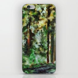 Abstract Landscape of a Forest iPhone Skin