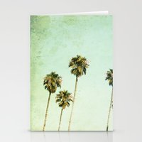 palm trees Stationery Cards featuring palm trees by Mareike Böhmer