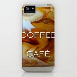 Iced Coffee Illusion iPhone Case