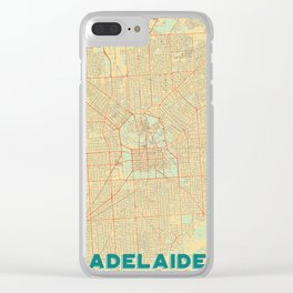 Adelaide Map Retro Clear iPhone Case
