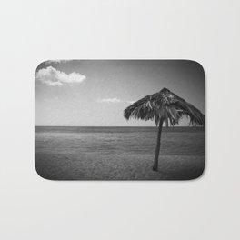 Caribean beach b&w Bath Mat