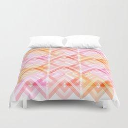 Pink/Orange Pattern Duvet Cover