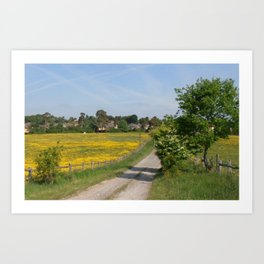 Country lane in West Sussex Art Print