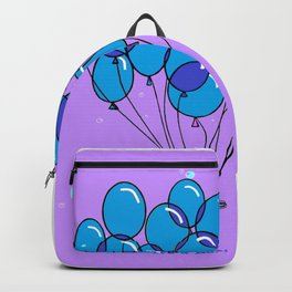 It's a Boy, Blue Balloons with Bubbles Backpack