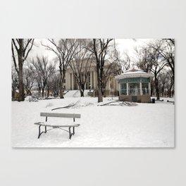 Winter time - Courthouse in Prescott AZ - Wiskey Row Canvas Print