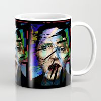 christopher walken Mugs featuring Christopher Walken. Cracked Actor. by brett66