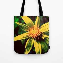 Vintage Yellow Flower Tote Bag