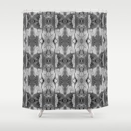 B&W Open Your Eyes Patterned Image Shower Curtain