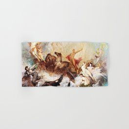 Hans Makart - The victory of light over darkness - Digital Remastered Edition Hand & Bath Towel