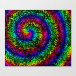 Rainbow Crackle Canvas Print