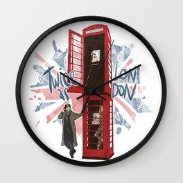 Twice as London 2 Wall Clock