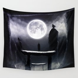 Moonlit Path Wall Tapestry