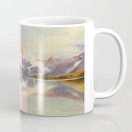 Matterhorn with Rainbow - Swiss Mountain Landscape Coffee Mug
