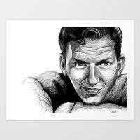 frank sinatra Art Prints featuring Frank Sinatra by Robin Ewers