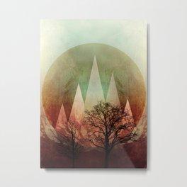 TREES under MAGIC MOUNTAINS I Metal Print