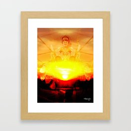 Drumming Until the Sun Comes UP Framed Art Print