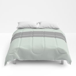 Grey Green with Grey Stripe Comforters