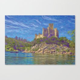 Almourol, Knights Templar fort Canvas Print