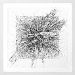 BIG BANG -Abstract Space- Black and White Art Print