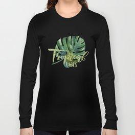 Palm Leaves Pattern 1 Long Sleeve T-shirt