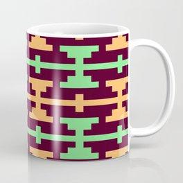 Native Aztec Dumbell Pattern Coffee Mug